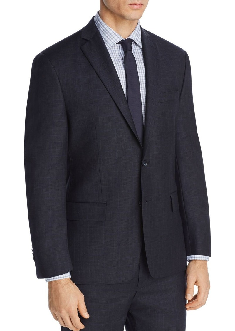 Michael Kors Tonal Plaid with Windowpane Classic Fit Suit Jacket