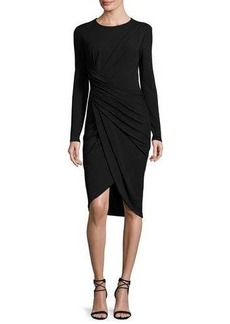 Michael Kors Twisted Long-Sleeve Sheath Dress