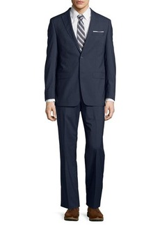 Michael Kors Modern-Fit Two-Button Grid Wool Two-Piece Suit