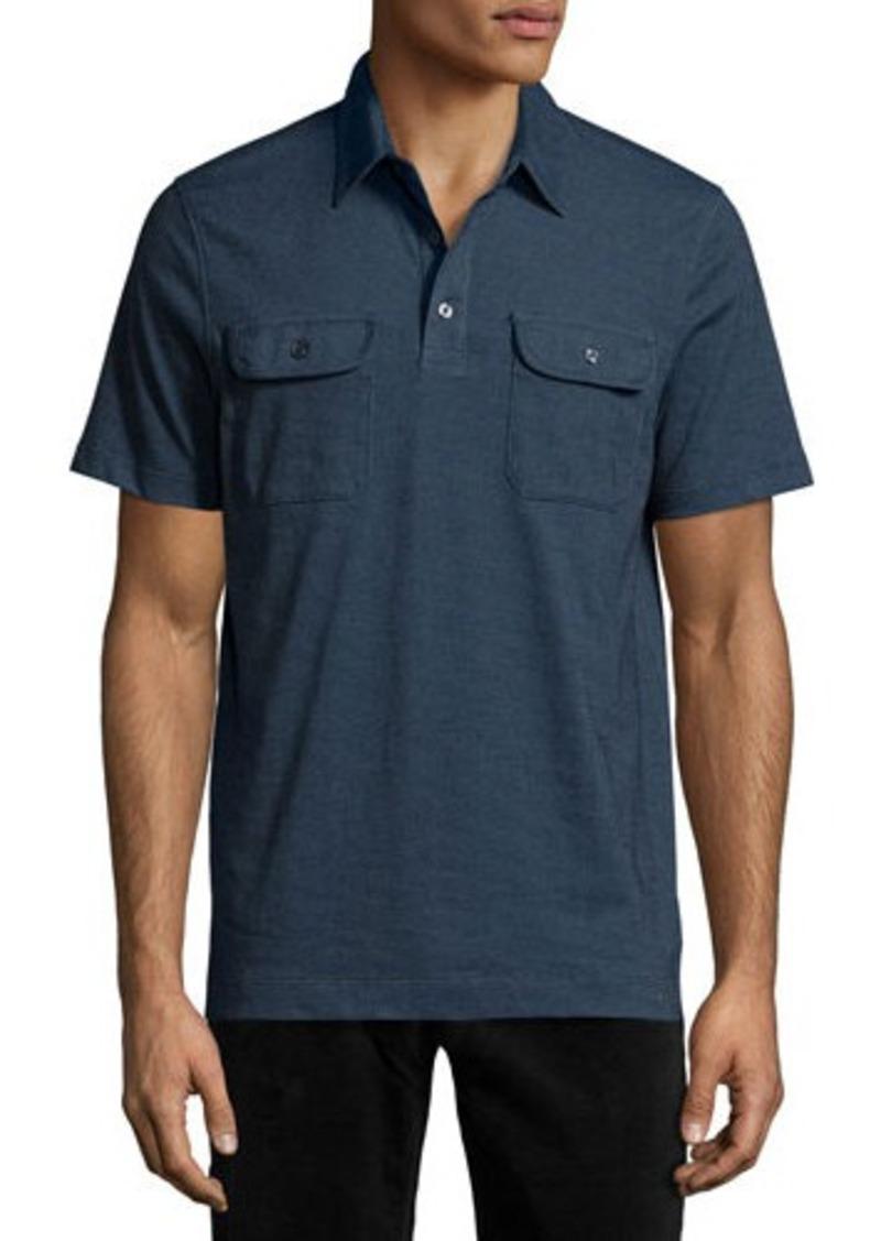 michael kors michael kors two pocket stretch polo shirt