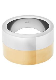 Michael Kors Two-Tone Wide Cuff Bracelet