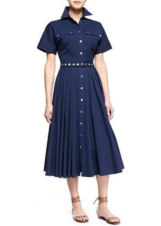 Michael Kors Utility Snap-Front Shirtdress