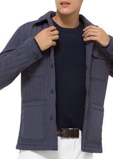 Michael Kors Vertical Quilted Water Repellent Shirt Jacket