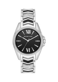 Michael Kors Whitney 3-Hand Stainless Steel Bracelet Watch