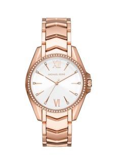Michael Kors Whitney Rose Goldtone Stainless Steel Bracelet Watch