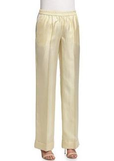 Michael Kors Wide-Leg Striped Pajama Pants