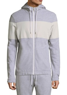 Michael Kors Woven Terry Hooded Sweatshirt