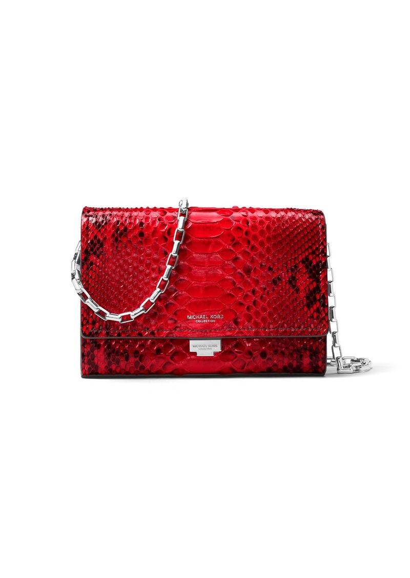 ed2b51948145 Michael Kors Michael Kors Yasmeen Python Clutch Bag