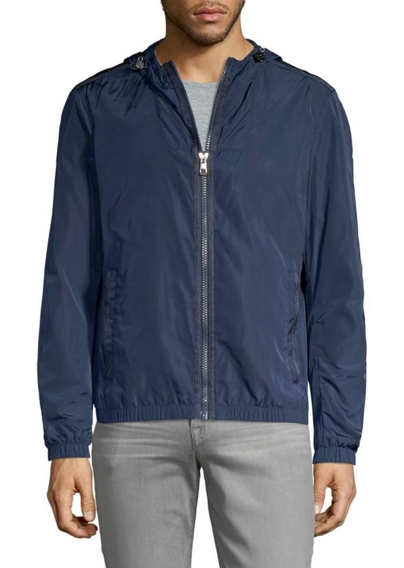 Michael Kors Zip-Front Hooded Jacket