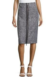 Michael Kors Zip-Slit Tweed Skirt