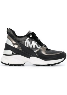 Michael Kors Mickey panelled wedge sneakers