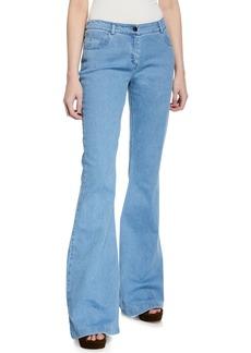 Michael Kors Mid-Rise Flare-Leg Contour Jeans  Sky Blue
