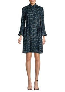 Michael Kors Mini Rosebud Bell Sleeve Shift Dress