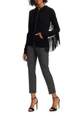 Michael Kors Mini Windowpane Stretch Wool Samantha Pants