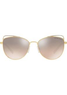 Michael Kors mirrored cat eye sunglasses