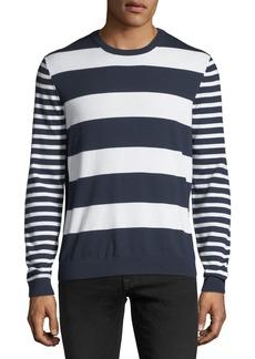 Michael Kors Mixed Striped Cotton Sweater
