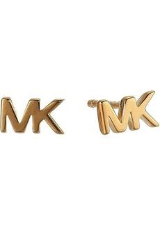 Michael Kors MK Logo Stud Earrings