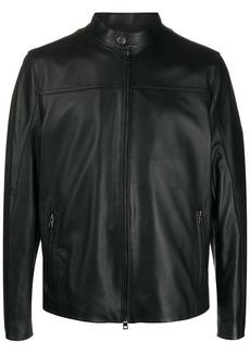 Michael Kors mock-neck biker jacket