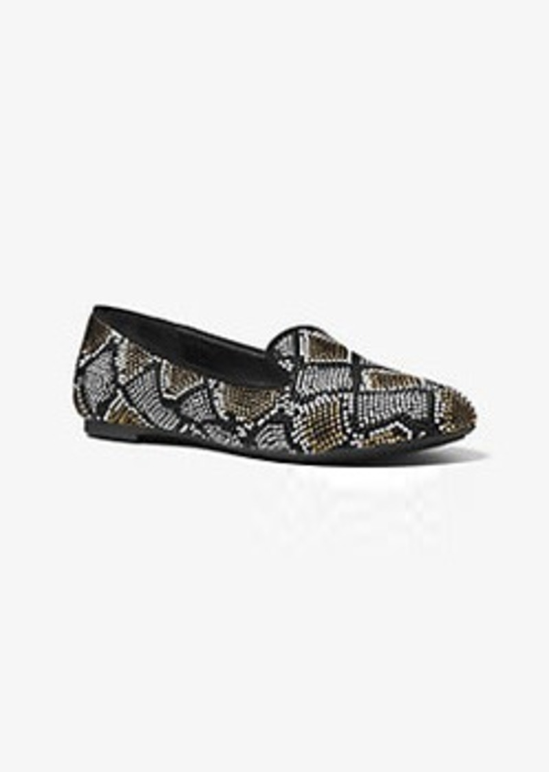 968ea72362fe Michael Kors Natasha Embellished Suede Loafer