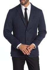 Michael Kors Navy Solid Two-Button Notch Lapel Slim Fit Jacket