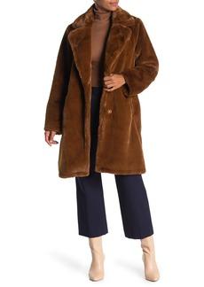 MICHAEL Michael Kors Notch Collar Faux Fur Coat