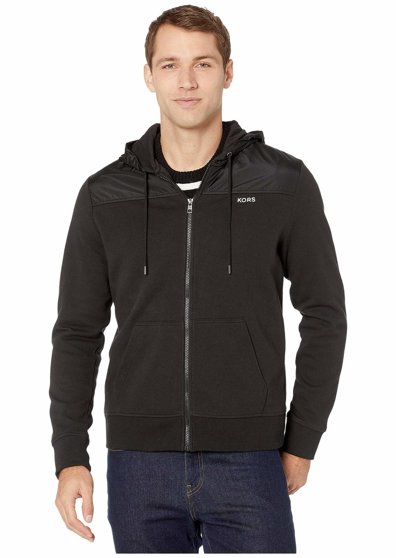 Michael Kors Nylon Mix Full Zip Hoodie