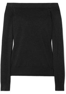 Michael Kors Off-the-shoulder Metallic Sweater