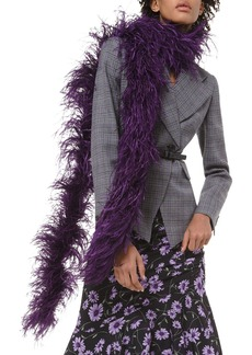 Michael Kors Ostrich Feather Boa Scarf