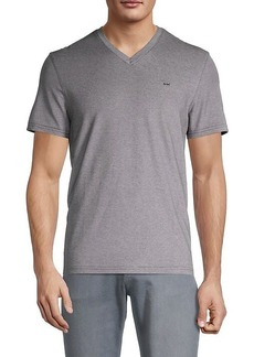 Michael Kors Oxford Pique V-Neck T-Shirt