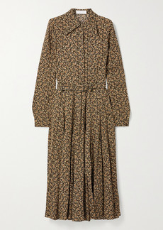 Michael Kors Paisley-print Silk Crepe De Chine Shirt Dress