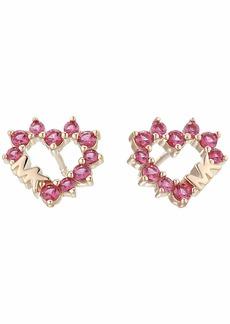 Michael Kors Pave Heart Stud Earrings
