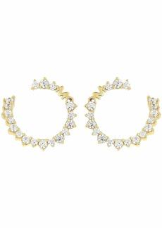 Michael Kors Pave Wrap Hoop Earrings