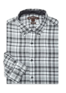 Michael Kors Plaid Cotton Dress Shirt
