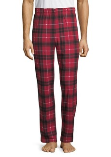 Michael Kors Plaid Fleece Lounge Pants