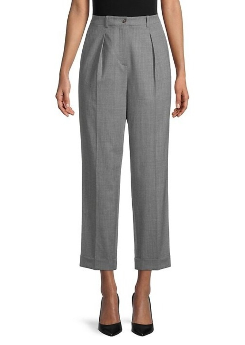 Michael Kors Pleat-Front Ankle Pants