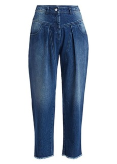 Michael Kors Pleated Ankle Crop Jeans