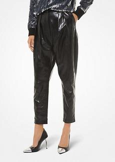 Michael Kors Pleated Leather Pants