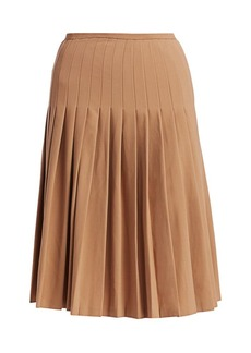 Michael Kors Pleated Wool Midi Skirt