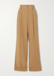 Michael Kors Pleated Wool Straight-leg Pants