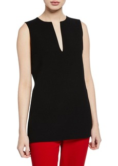 Michael Kors Plunge-Neck Sleeveless Wool Top