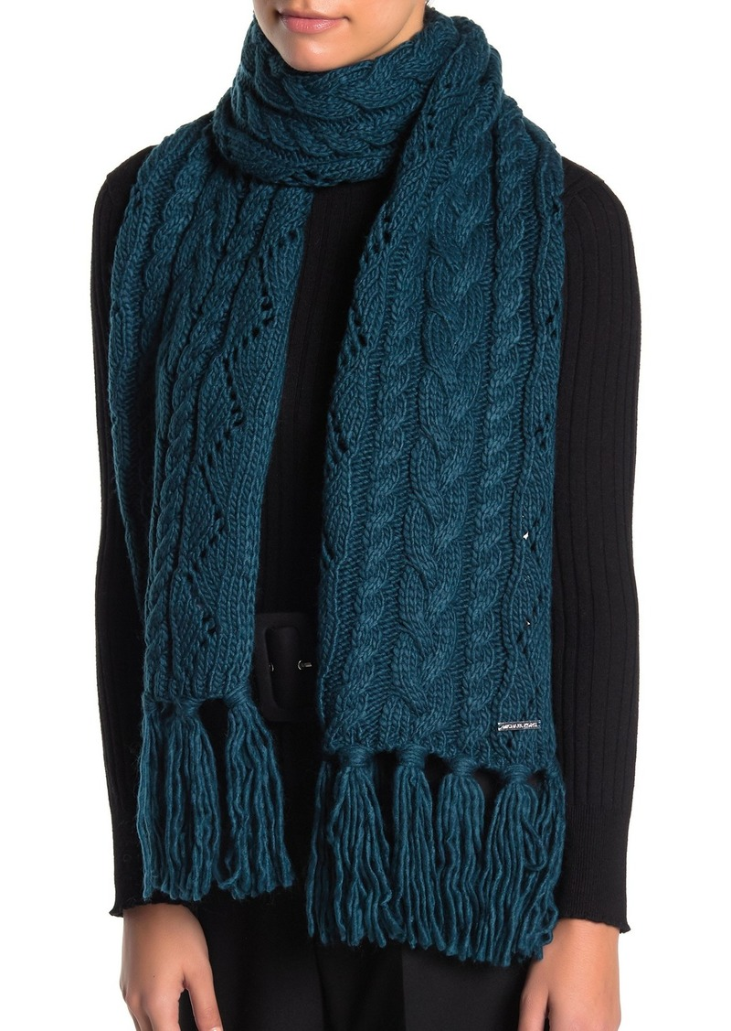 MICHAEL Michael Kors Pointelle Cable Knit Scarf