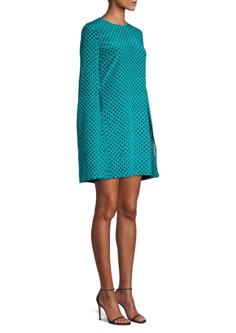 Michael Kors Polka Dot Cape Dress