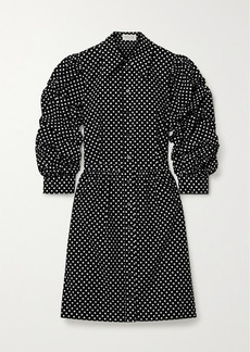 Michael Kors Polka-dot Cotton-poplin Mini Dress