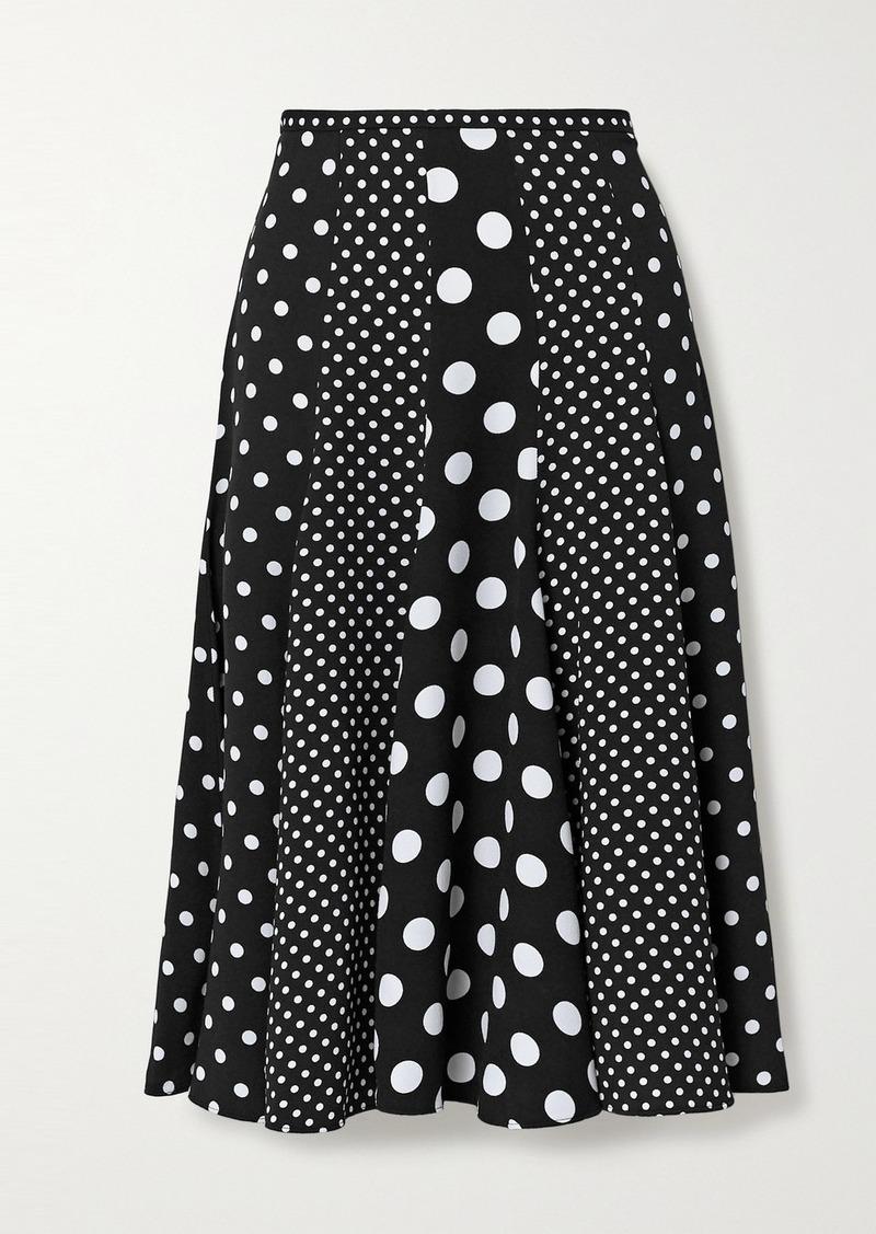 Michael Kors Polka-dot Crepe Midi Skirt