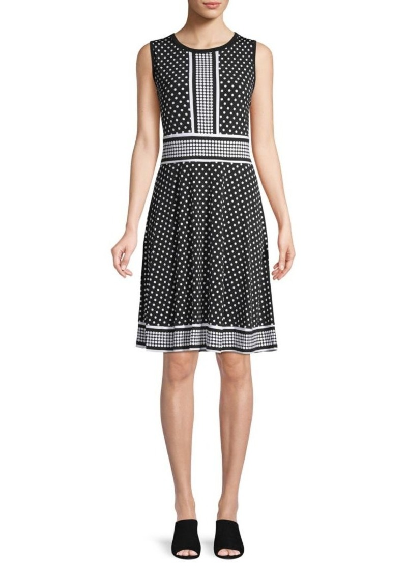 Michael Kors Polka Dot Sheath Dress
