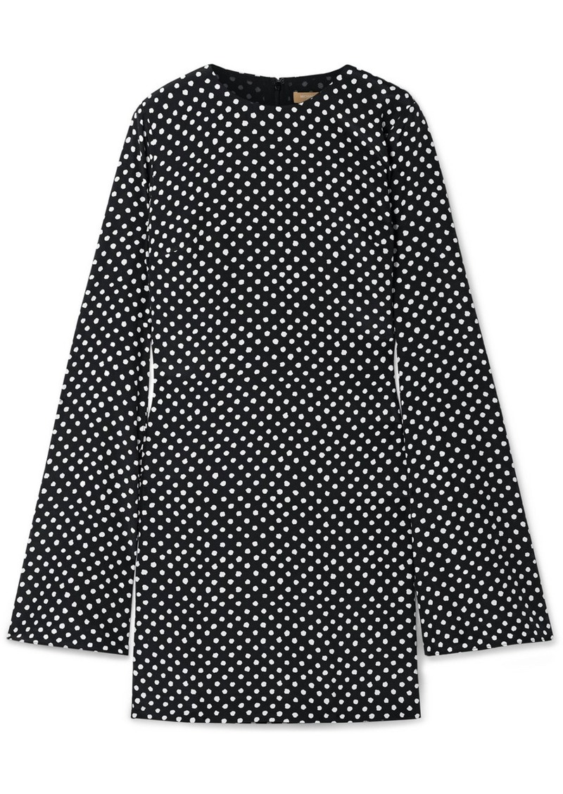 Michael Kors Polka-dot Silk-crepe Mini Dress