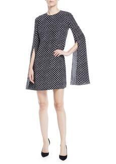 Michael Kors Polka-Dotted Split-Sleeve Dress