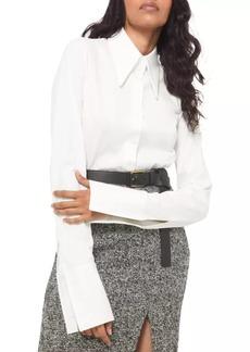 Michael Kors Poplin French Cuff Button Down Shirt