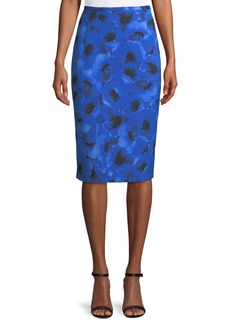 Michael Kors Poppy-Print Pencil Skirt