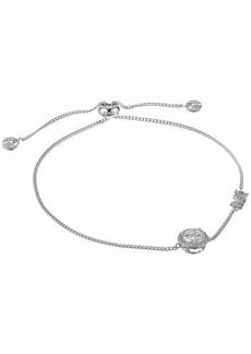 Michael Kors Precious Metal-Plated Sterling Silver CZ Charm Slider Bracelet